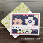 Simple Saturday Sale-a-Bration Sneak Peek! Paper Blooms DSP & Heal Your Heart Stamp Set - Card by Mary Fish, Stampin