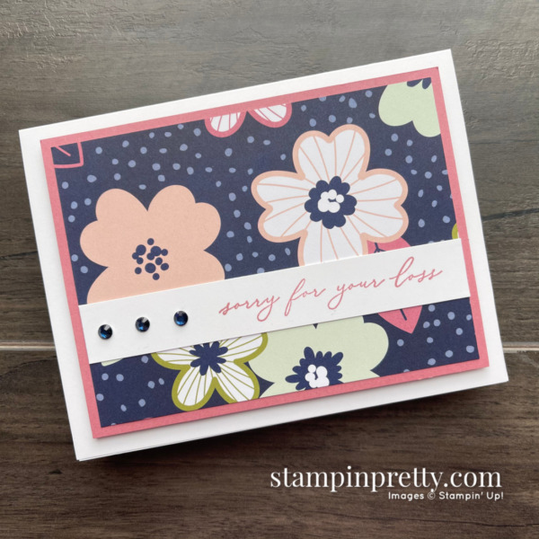 Simple Saturday Sale-a-Bration Sneak Peek! Paper Blooms DSP & Heal Your Heart Stamp Set - Card by Mary Fish, Stampin' Pretty!