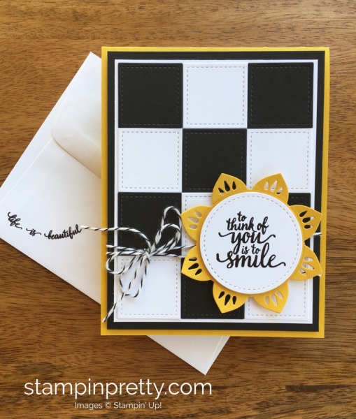 Stampin Up Checkerboard Card by Mary Fish