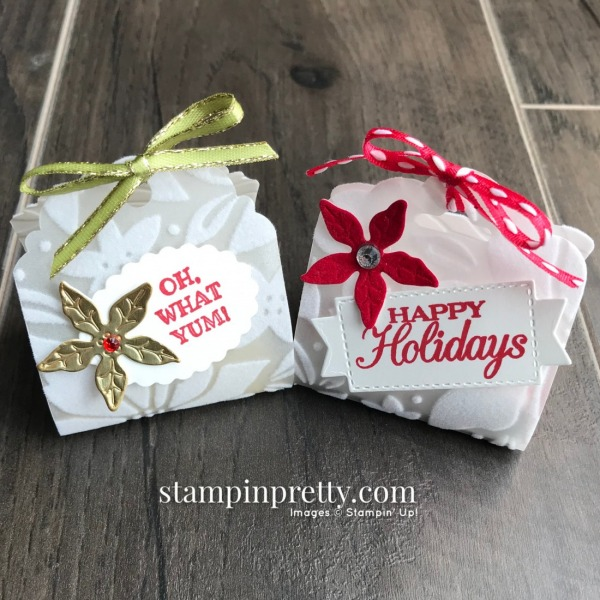 These two nugget holders use several products from the Poinsettia Place Suite Collection.