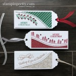 Trio of Christmas Tags using the Curvy Celebrations Products from Stampin