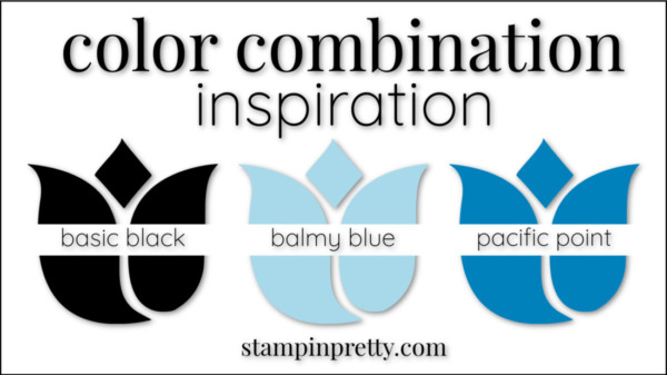 Color Combinations Balmy Blue Basic Black, Pacific Point