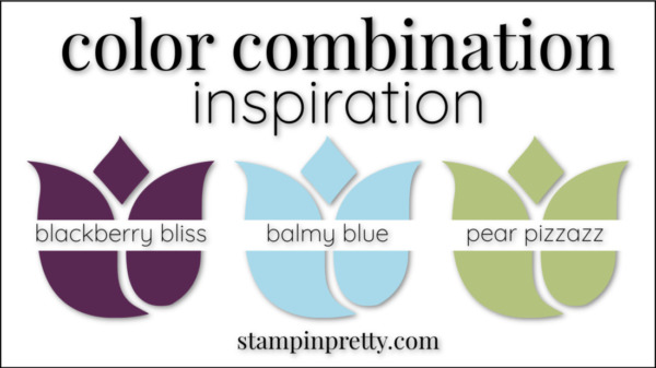 Color Combinations Balmy Blue Blackberry Bliss Pear Pizzazz
