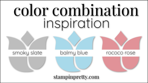 Color Combinations Balmy Blue Smoky Slate Rococo Rose