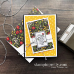 Flower & Field DSP + Punch Party Stamp Set FREE during Sale-a-Bration. Card by Mary Fish, Stampin