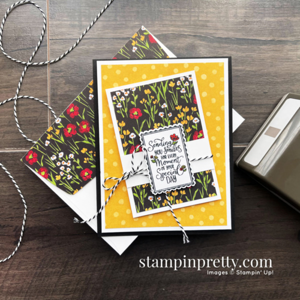 Flower & Field DSP + Punch Party Stamp Set FREE during Sale-a-Bration. Card by Mary Fish, Stampin' Pretty