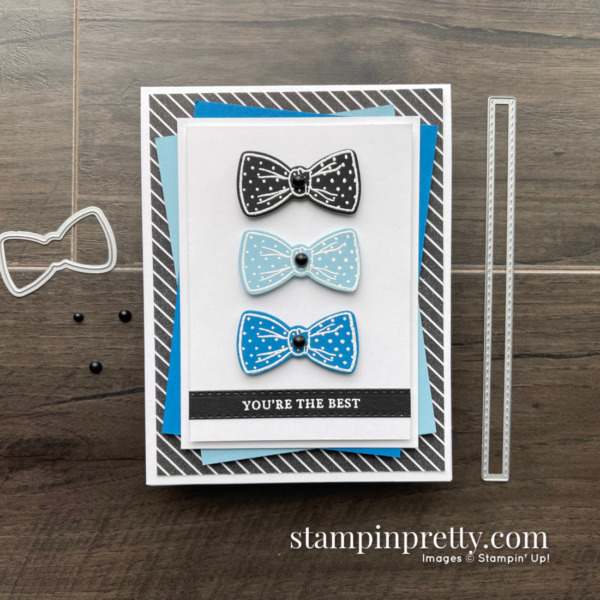 Handsomely Suited Bundle from Stampin' Up! Card by Mary Fish, Stampin' Pretty - Color Combination