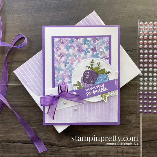 Hydrangea Hill Designer Series Paper by Stampin' Up! Mary Fish, Stampin' Pretty