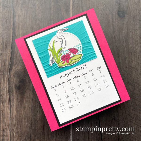 Linda White's Annual 2021 Calendar Shared by Mary Fish, Stampin' Pretty - August
