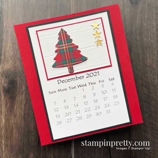 Linda White's Annual 2021 Calendar Shared by Mary Fish, Stampin' Pretty - December