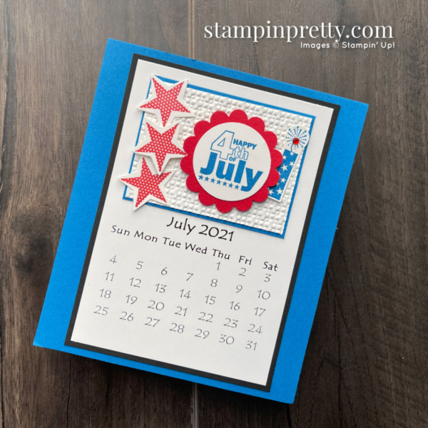Linda White's Annual 2021 Calendar Shared by Mary Fish, Stampin' Pretty - July