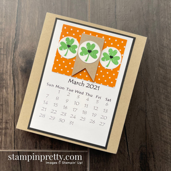 Linda White's Annual 2021 Calendar Shared by Mary Fish, Stampin' Pretty - March
