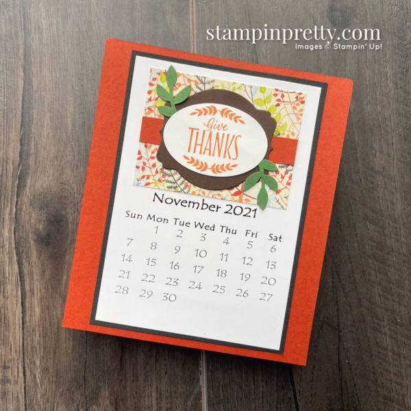 Linda White's Annual 2021 Calendar Shared by Mary Fish, Stampin' Pretty - November