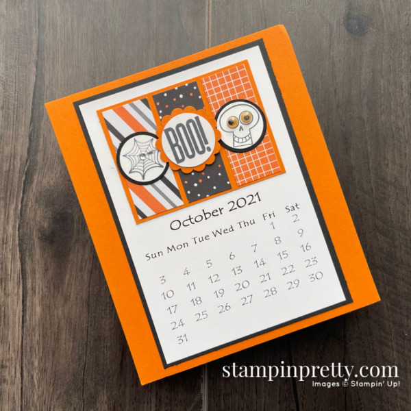 Linda White's Annual 2021 Calendar Shared by Mary Fish, Stampin' Pretty - October