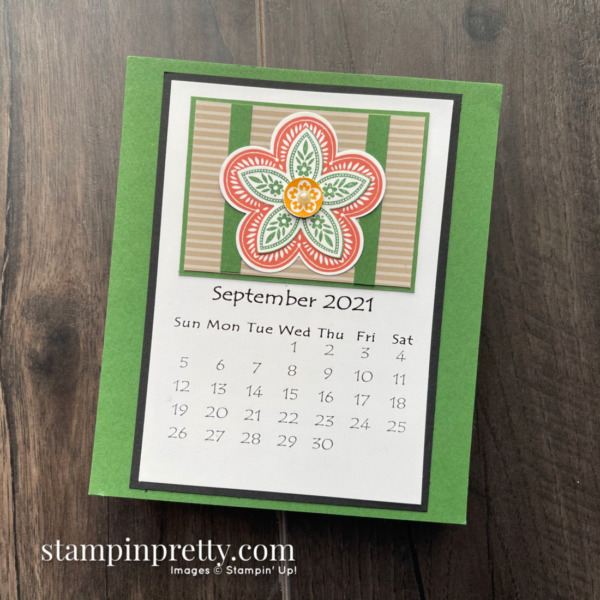 Linda White's Annual 2021 Calendar Shared by Mary Fish, Stampin' Pretty - September