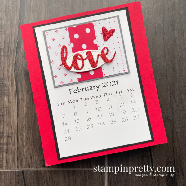 Linda White's Annual 2021 Calendar Shared by Mary Fish, Stampin' Pretty _ February