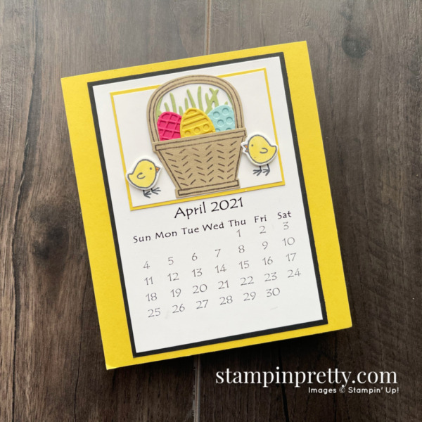 Linda White's Annual 2021 Calendar Shared by Mary Fish, Stampin' Pretty_April