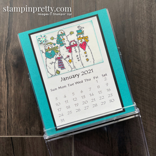 Linda White's Annual 2021 Calendar Shared by Mary Fish, Stampin' Pretty_January