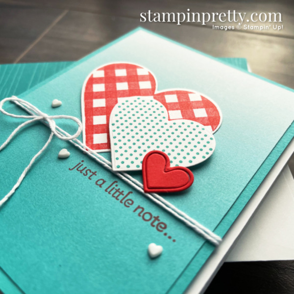 Lots of Heart Bundle and Oh So Ombre DSP from Stampin' Up! Mary Fish, Stampin' Pretty