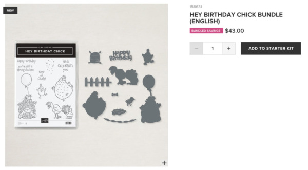 Hey Birthday Chick Bundle from Stampin' Up!