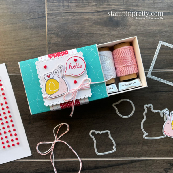 Snail Mail Suite Collection from Stampin' Up! Valentine Treat Box by Mary Fish, Stampin' Pretty