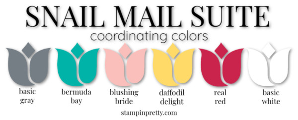 Snail Mail Suite Coordinating Colors from Stampin' Up! Stampin' Pretty