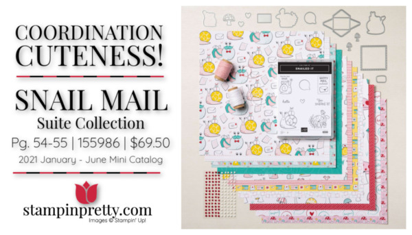 Stampin' Up! Coordination Cuteness Mary Fish Stampin' Pretty Snail Mail Suite Collection 155986 $69.50