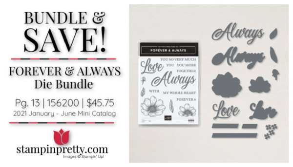 Stampin' Up! Forever and Always Die Bundle 156200 Mary Fish Stampin' Pretty