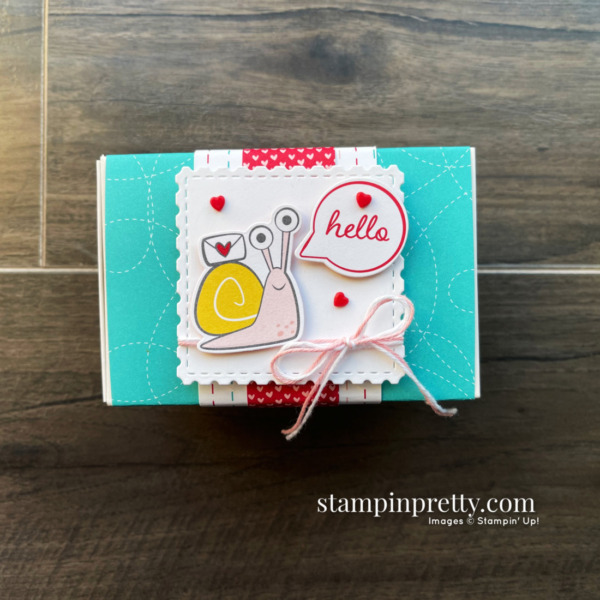 Stampin' Up! Snailed It Bundle Love You Always Treat Box by Mary Fish, Stampin' Pretty