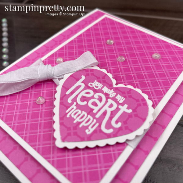 Stampin' Up! You Make My Heart Happy with Punch Party. Card by Mary Fish, Stampin' Pretty (2)
