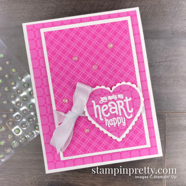 Stampin' Up! You Make My Heart Happy with Punch Party. Card by Mary Fish, Stampin' Pretty