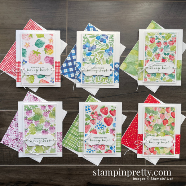 Berry Blessings & Berry Delightful Designer Series Paper - Free with $100 Purchase during Sale-a-Bration - Ends February 28, 2021 - Mary Fish, Stampin' Pretty