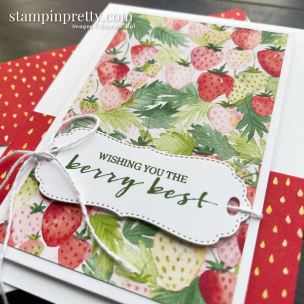 Berry Blessings & Berry Delightful Designer Series Paper from Stampin' Up! Earn FREE with $100 thru February 28. Mary Fish, Stampin' Pretty