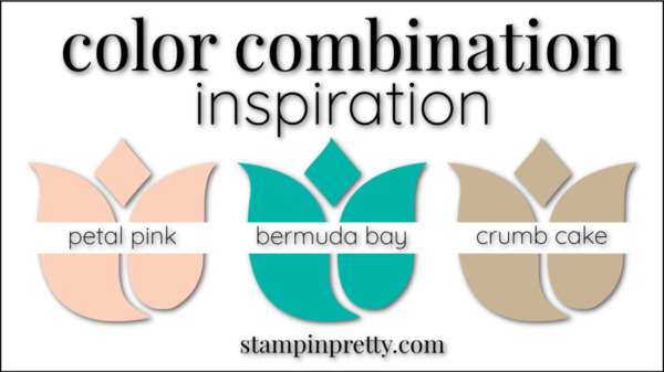 Color Combinations Petal Pink, Bermuda Bay, Crumb Cake