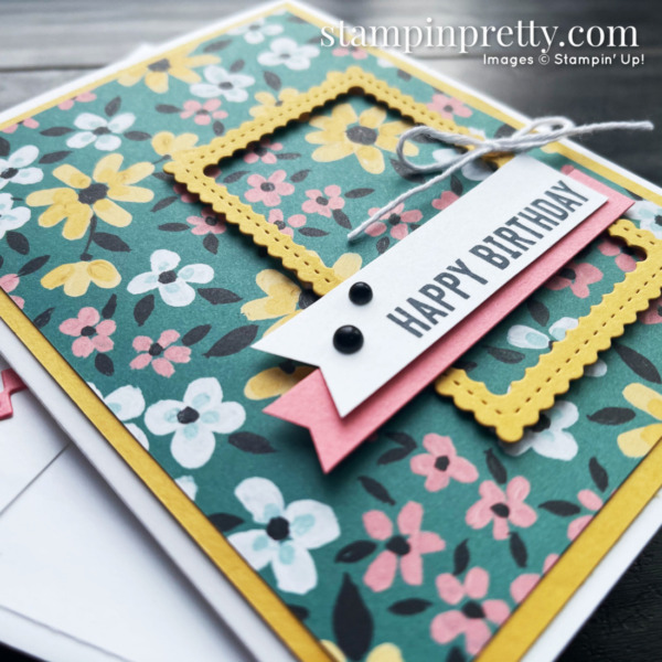 Create this birthday card using the Itty Bitty Birthday Stamp Set from Stampin' Up! Mary Fish, Stampin' Pretty