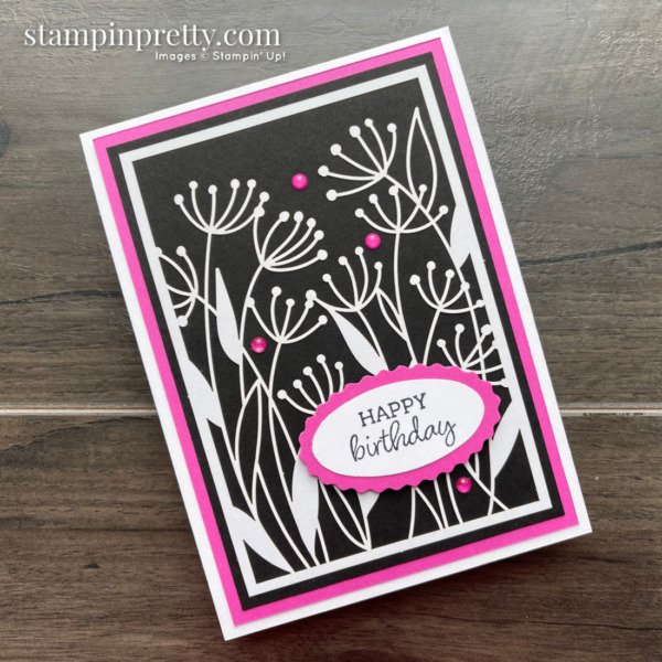 Dandy Laser-Cut Paper from Stampin' Up! Happy Birthday Card by Mary Fish, Stampin' Pretty