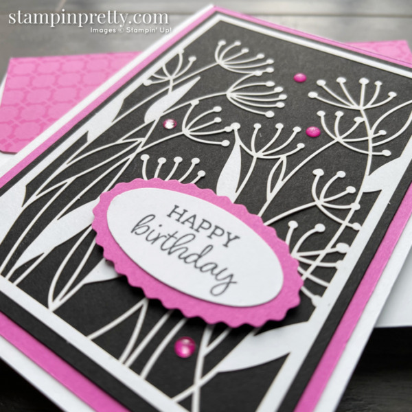Dandy Laser-Cut Paper from Stampin' Up! Happy Birthday Card by Mary Fish, Stampin' Pretty (2)