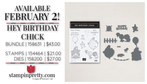 Hey Birthday Chick Bundle from Stampin' Up! Purchase Online with Mary Fish Starting February 2, 2021