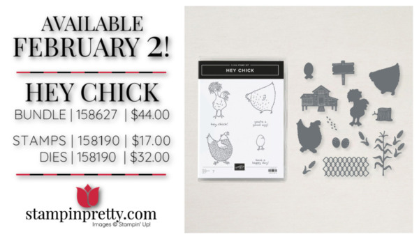 Hey Chick Bundle from Stampin' Up! Purchase Online with Mary Fish Starting February 2, 2021