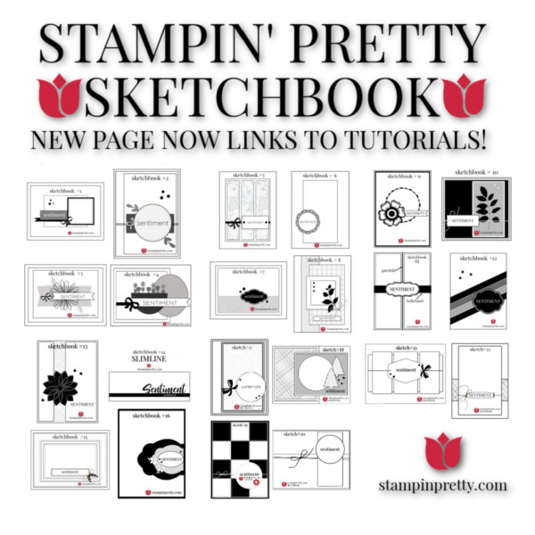 Stampin' Pretty Sketchbook Page Links to Tutorials