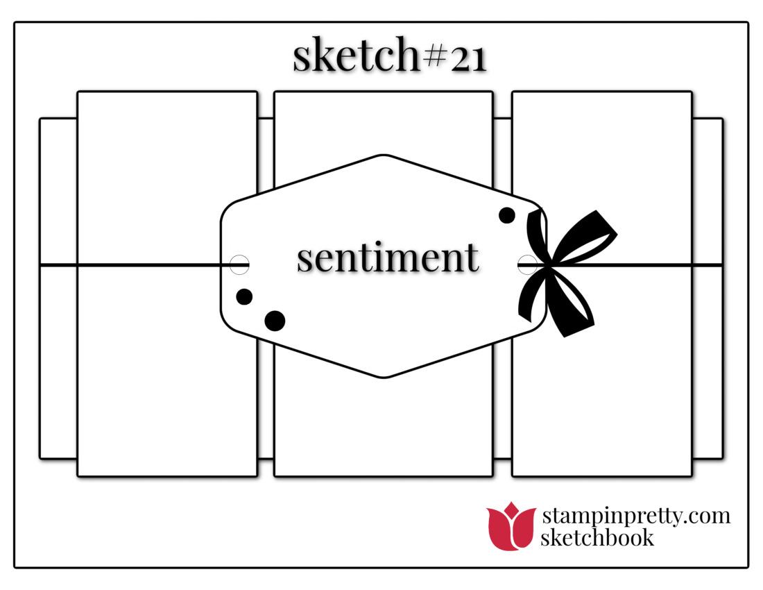 Stampin' Pretty Sketchbook Sketch 21