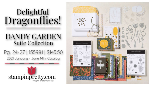 Stampin' Up! Delightful Dragonflies Dandy Garden Suite Collection 155981 145.50 Mary Fish, Stampin' Pretty