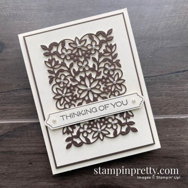 Vine Design Bundle by Stampin' Up! Card by Mary Fish, Stampin' Pretty. Thinking of You