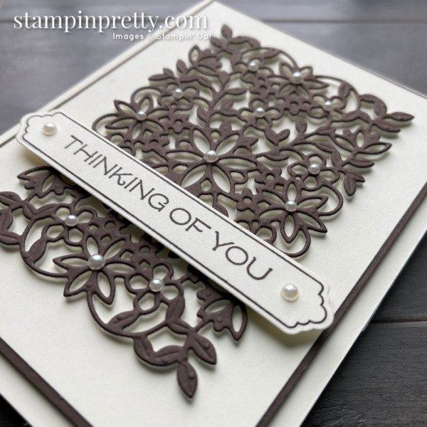 Vine Design Bundle by Stampin' Up! Card by Mary Fish, Stampin' Pretty. Thinking of You (2)