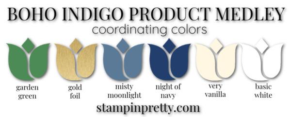 Boho Indigo Product Medley Coordinating Colors