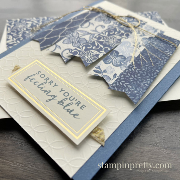 Boho Indigo Product Medley from Stampin' Up! Card by Mary Fish, Stampin' Pretty Slant Envie