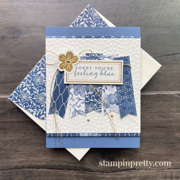 Boho Indigo from Stampin' Up! Stepped-Up Friend Card by Mary Fish, Stampin' Pretty