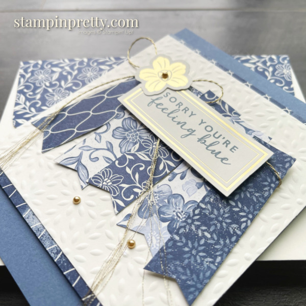 Boho Indigo from Stampin' Up! Stepped-Up Friend Card by Mary Fish, Stampin' Pretty Slant with Envie