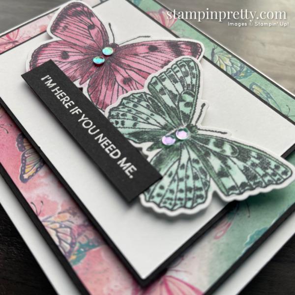Butterfly Brilliance Collection from Stampin' Up! Card with Stamps 2 by Mary Fish, Stampin' Pretty