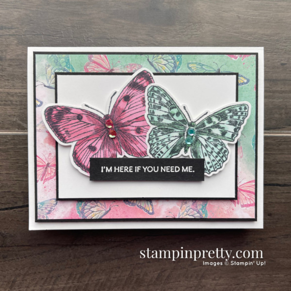 Butterfly Brilliance Collection from Stampin' Up! Card with Stamps by Mary Fish, Stampin' Pretty
